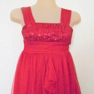 Girls Sz 8 Sequin Hearts Christmas Dress